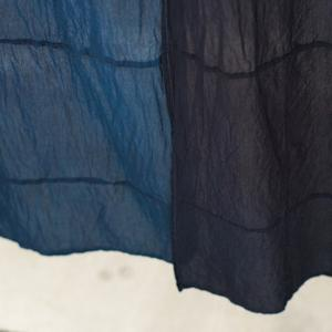 【送料無料】GOOD WEAVER INDIGO OVERDYE SCARF LIGHT INDIGO