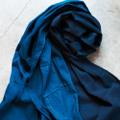 GOOD WEAVER INDIGO OVERDYE SCARF LIGHT INDIGO