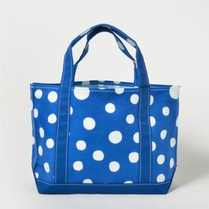 TEMBEA TOTE BAG MEDIUM 型染め 丸 青