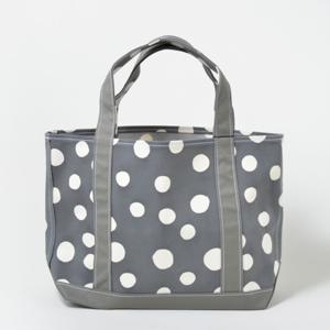TEMBEA TOTE BAG MEDIUM 型染め 丸 灰